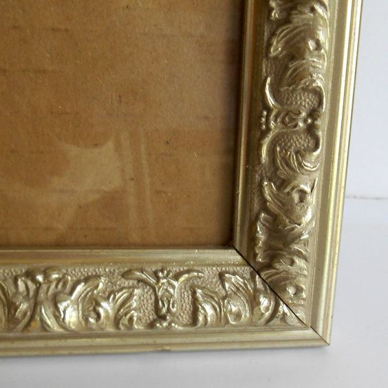 VINTAGE Ornate Metallic Platinum Hollywood Regency style frame wall mount desk #Unbranded #HollywoodRegency #BigBoyTumbleweed