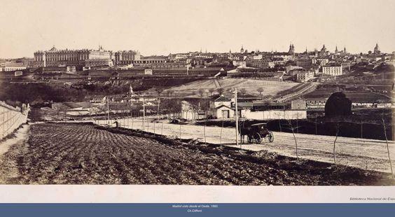 1860 Madrid desde el oeste
