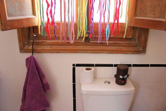 cortina con cintas