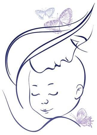 Madre Y Bebe Word Art Dibujo Para Mama Produccion Artistica
