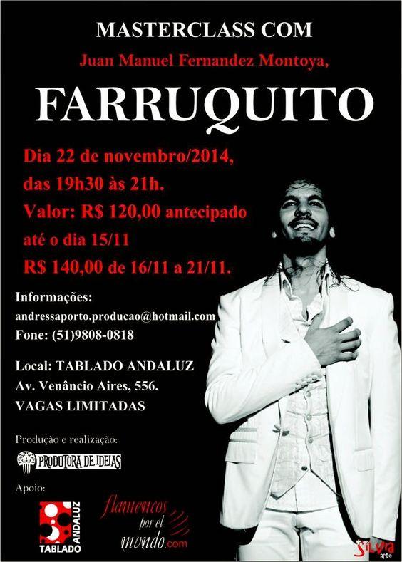El Cajón Flamenco: Masterclass com Farruquito em Porto Alegre no Tabl...