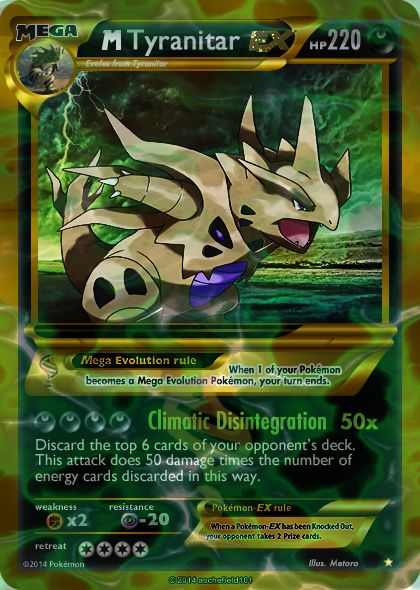 Mega shiny Tyranitar card by Metoro | pokemon | Pinterest ...