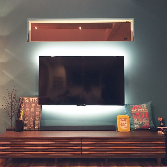 LED 間接照明が素敵。テープで簡単貼り付け&アイデア実例