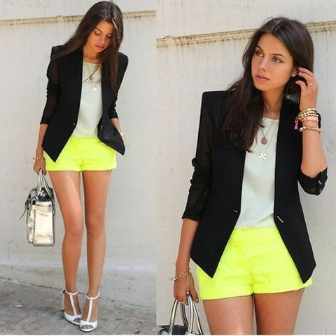 classic chic with a pop of neon!