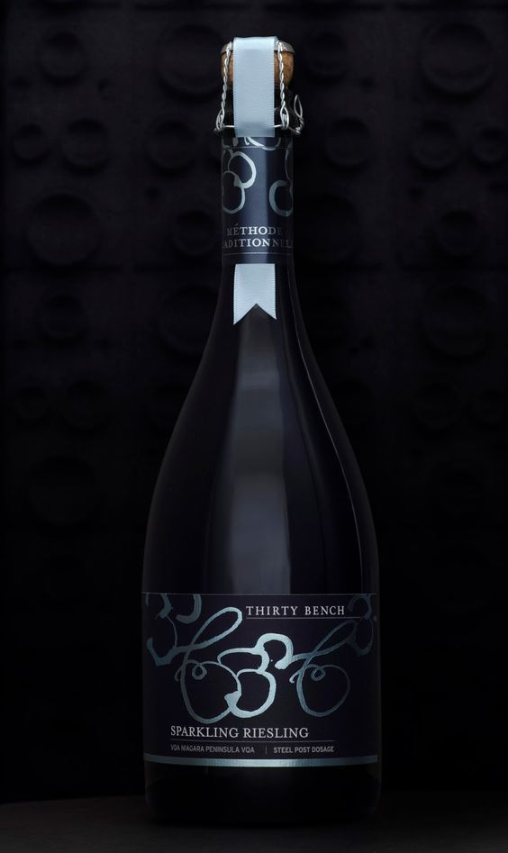 Thirty Bench Wine Makers Sparkling Riesling on Packaging of the World - Creative Package Design Gallery