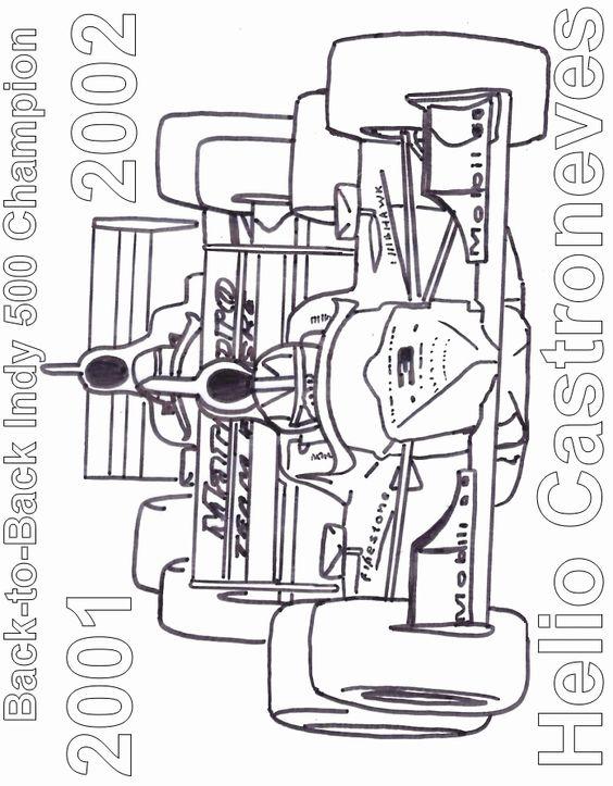 Imprimer le coloriage auto de course