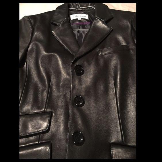 Calvin Klein Leather Jacket (M) Leather jacket size medium brand new Calvin Klein Jackets & Coats