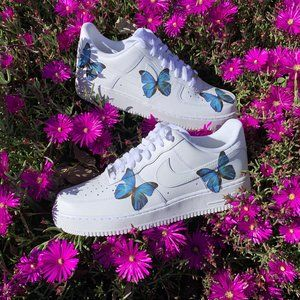 Nike Women's Air Force 1 Low Pale Pink Hearts Valentine's
