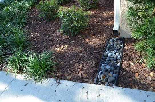 Invisaflow 38 In Channel Guard 7400 The Home Depot Small Backyard Landscaping Garden Yard Ideas Splash Blocks