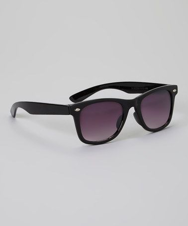 Another great find on #zulily! Black Retro Sunglasses by Eye Design #zulilyfinds