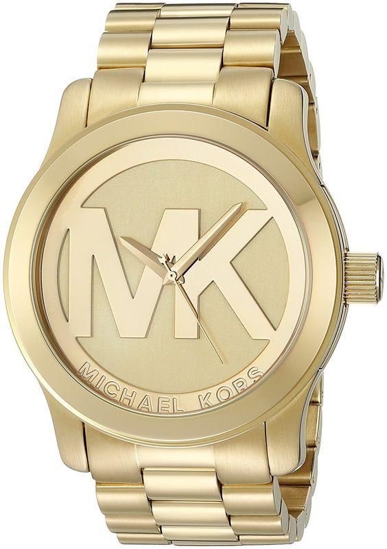 Michael Kors Women's Runway Gold-Tone Watch MK5473: Michael Kors: Clothing