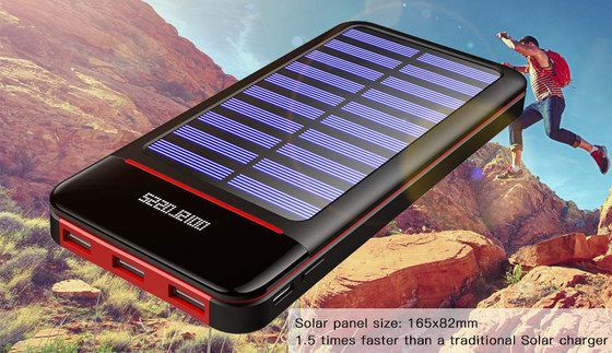 RLERON Travel Solar Charger Power Bank | Solar charger