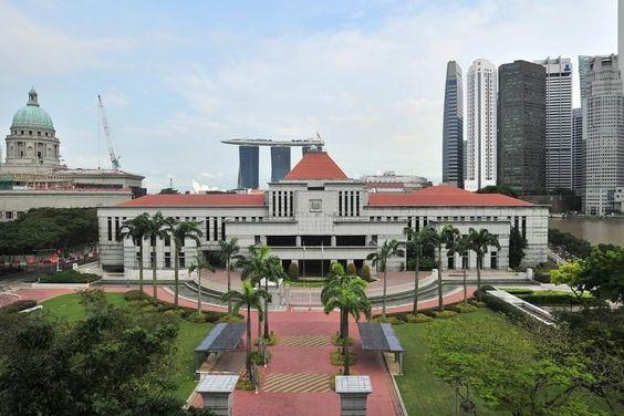 Tòa nhà quốc hội Singapore nằm ở mảnh đất có diện tích là 2,2 ha