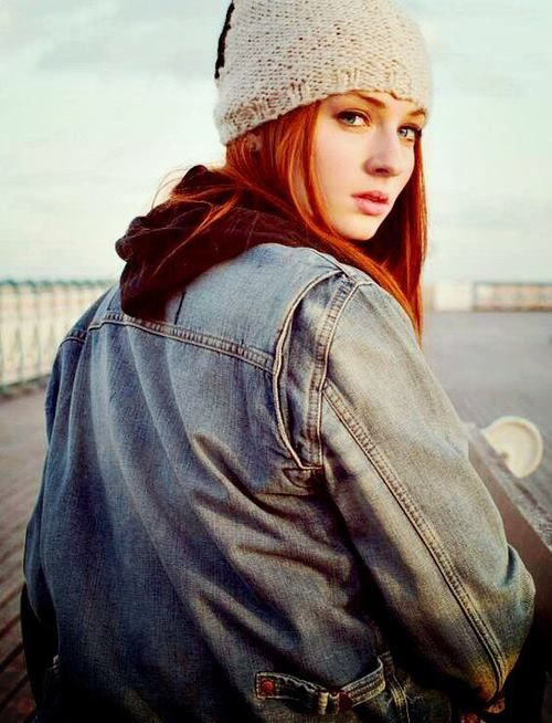 #SophieTurner, that denim, that beanie, what? This picture is brilliance.