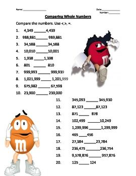 Comparing and Ordering Whole Numbers | Math | Pinterest ...