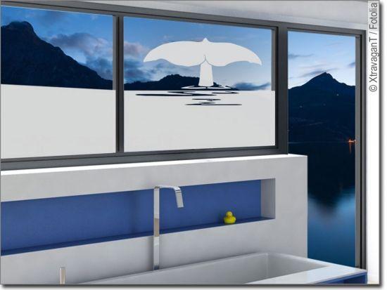 Fensterfolie Walflosse Fensterfolie Sichtschutzfolie Und Folie