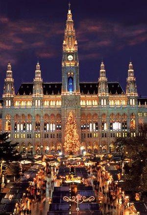 Wish we were here. Kristkind Markt at the Rathaus Vienna, Austria
