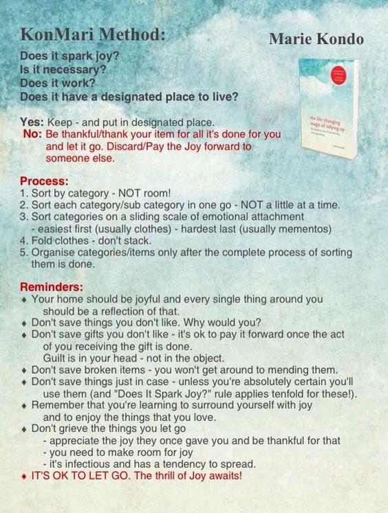 Konmari Method Infographic Marie Kondo Quot The Life
