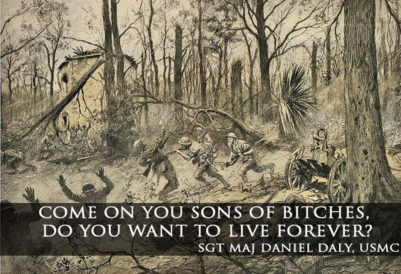 """unrepentantwarriorpriest: """"navyhistory: """"The most badass thing ever said in the history of warfare. PERIOD. Happy Birthday, USMC. """" Warrior Culture : Medal of Honor Subculture : USMC """""""