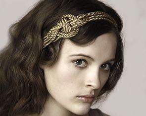 vintage gold knot headwrap