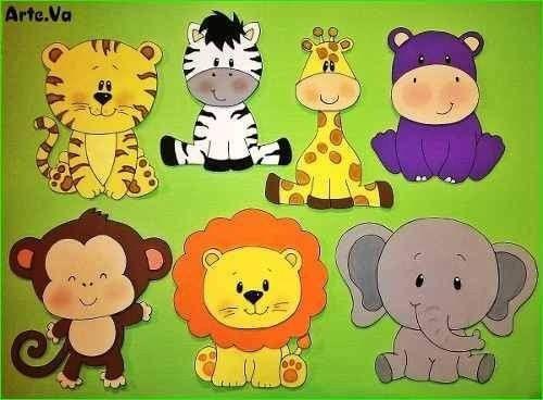 Pin De Priyanka Barse Em Bulletin Board Animais Da Selva Animais Da Arca De Noe Rostos De Animais