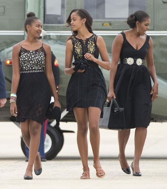 First lady Michelle Ob... Obama Daughters 2014