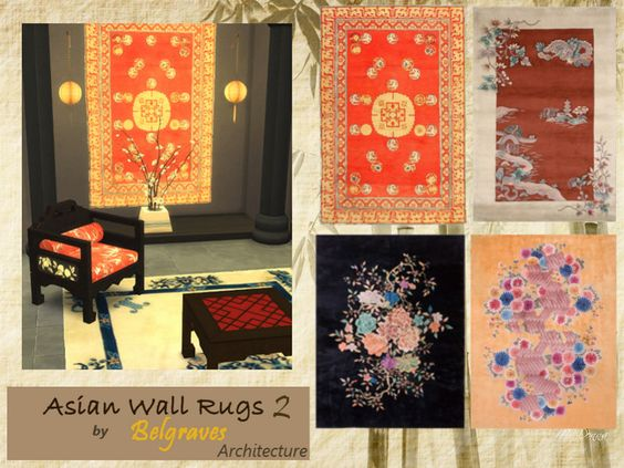 Leander Belgraves - Asian Wall Rugs 3 Sets/ 12 swatches DOWNLOAD at...
