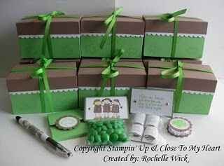 "Girl Scout gift boxes.  I'm going to make them for my troop, and then have the troop make some for our ""adopted"" Daisy troop we do things with, to be given during GS Week.  Could also be a bridging gift."