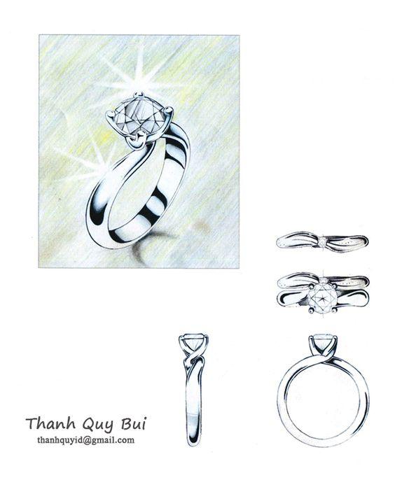Janai's diamond ring. Desiner: Thanh Quy Bui
