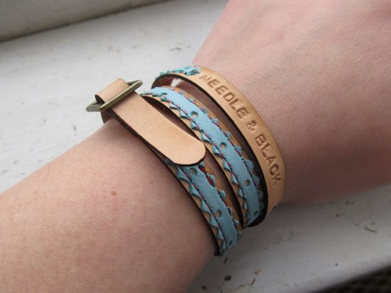 Look, I am a wrist model! spring zig-zag wristlet by Needle and Black