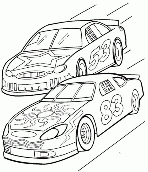 NASCAR Coloring Page Online
