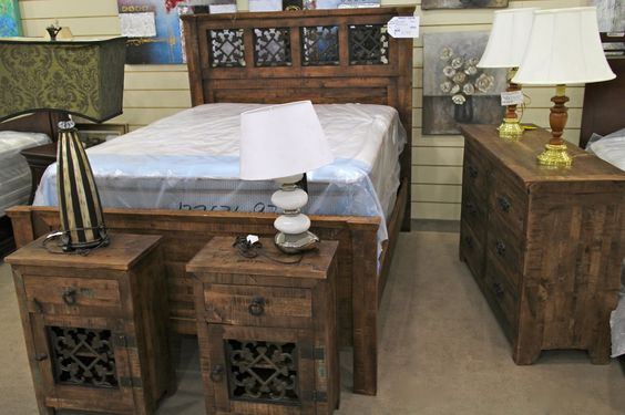 Porter international rustic queen bedroom set colleen 39 s for Bedroom furniture 89117