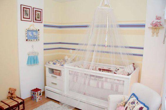 Quarto completo kit berço tela bi-cama menina