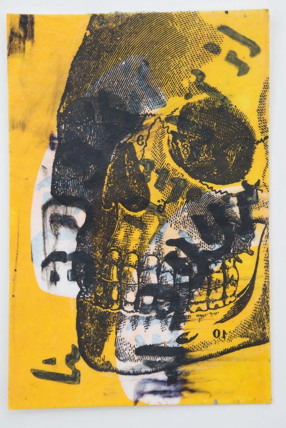 A Book About Death skull art by Marie Kazalia http://MarieKazalia.me