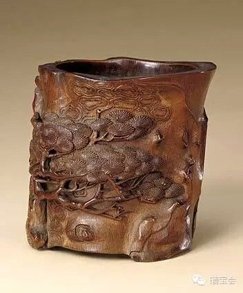 Bamboo brush pot, Ming Dynasty. Collection of National Palace Museum, Beijing