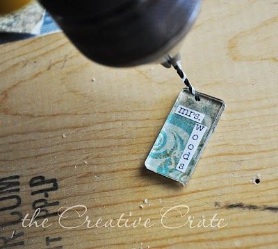 Make personalized necklace charms.