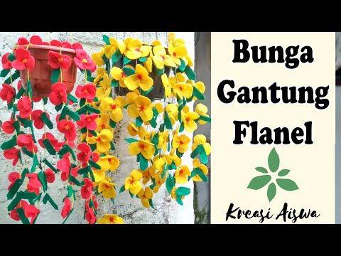 Cara Membuat Bunga Gantung Dari Kain Flanel Dengan Mudah Dan