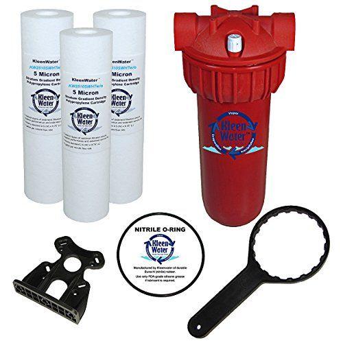 Kleenwater Hot Water Filter 1 Mounting Bracket 1 5 Micron High Temp Cartridges 3 Spare Oring 1 Filter Filter Wrench Water Filter Mounting Brackets