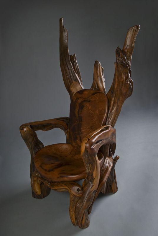 sculptures en bois flotte 4   Sculptures de bois flotté par Jeff Uitto   Sculpture recyclage photo Jeff Uitto image     Fauteuil
