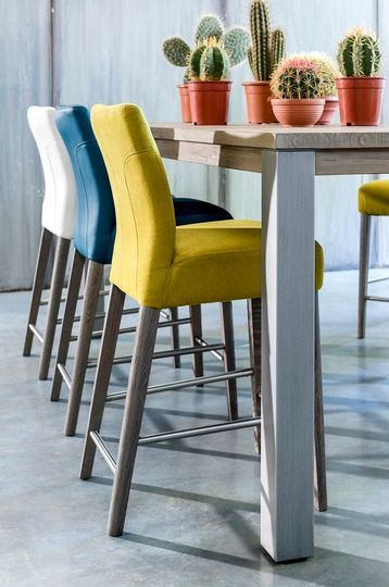 Tabouret bar couleur design en image