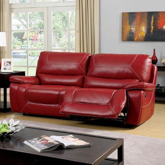 Newburg Red Motion Sofa - CM6814RD-SF