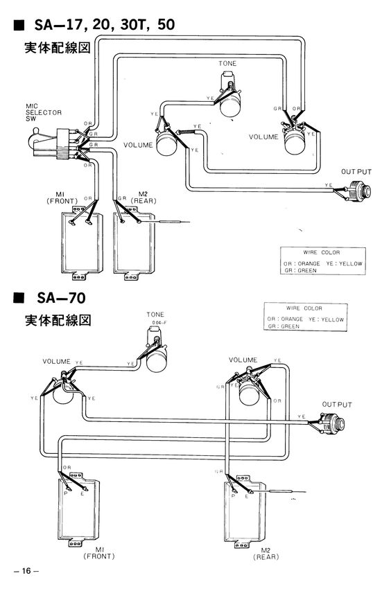 sa 50 yamaha guitar booklet page 11 illustrated parts list full jpg rh pinterest com 1971 Yamaha JT1 yamaha jt1 wiring diagram