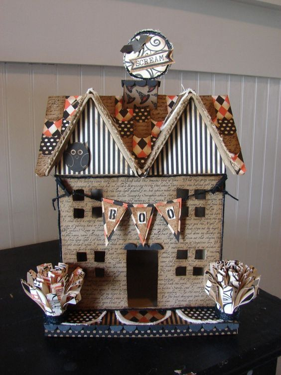 Cardboard Houses Gingerbread Houses And Twists On Pinterest