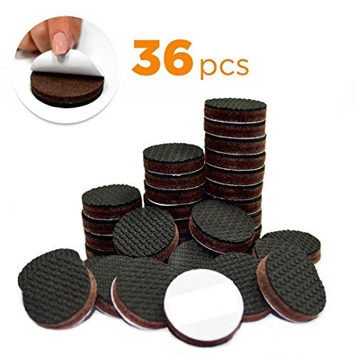 Yelanon Furniture Pads 36 Pcs 1 Non Slip Furniture Felt Pads Rubber Feet Protect Your Hardwoo Furniture Floor Protectors Furniture Pads Felt Furniture Pads