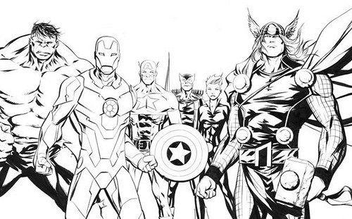 Imagenes De Avengers Para Colorear Dibujos De Los Vengadores Para