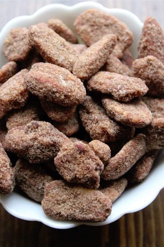 Crock Pot Cinnamon Pecans! This recipe is amazing! Your house smells fantastic and the Crock Pot Cinnamon Pecans are so good!!!