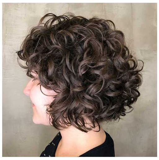 Kurzhaarfrisuren Locken Frauen In 2020 Bob Frisur Locken Kurz Kurzhaarfrisur Locken Bob Frisur
