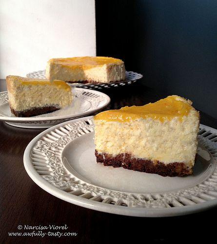 Orange curd cheesecake.