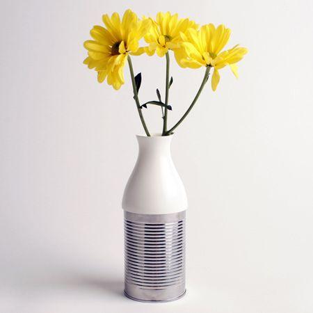 tin can vase