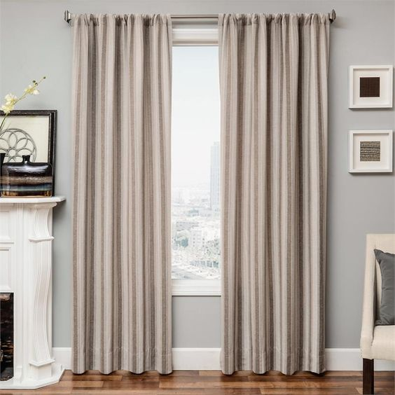 Curtains Ideas 120 inch length curtains : Azure Mirror Curtain Panel available in 6 color choices ...